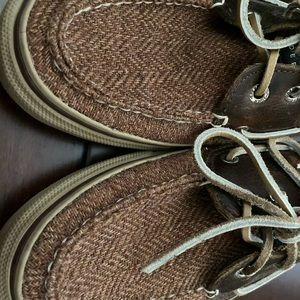 Speedy twill boat shoes brown